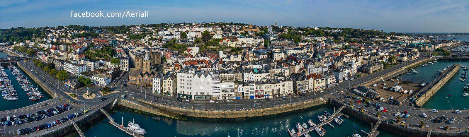 St Peter Port central seafront by Aerial-i