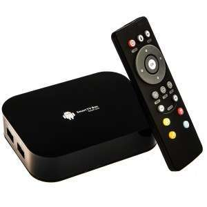 YouBox media TV box with remote control