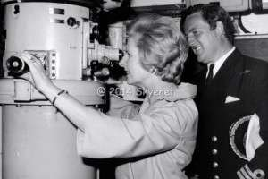 Margaret Thatcher during a visit to Faslane in 1978 as the then Leader of the Opposition by Iain Ferguson