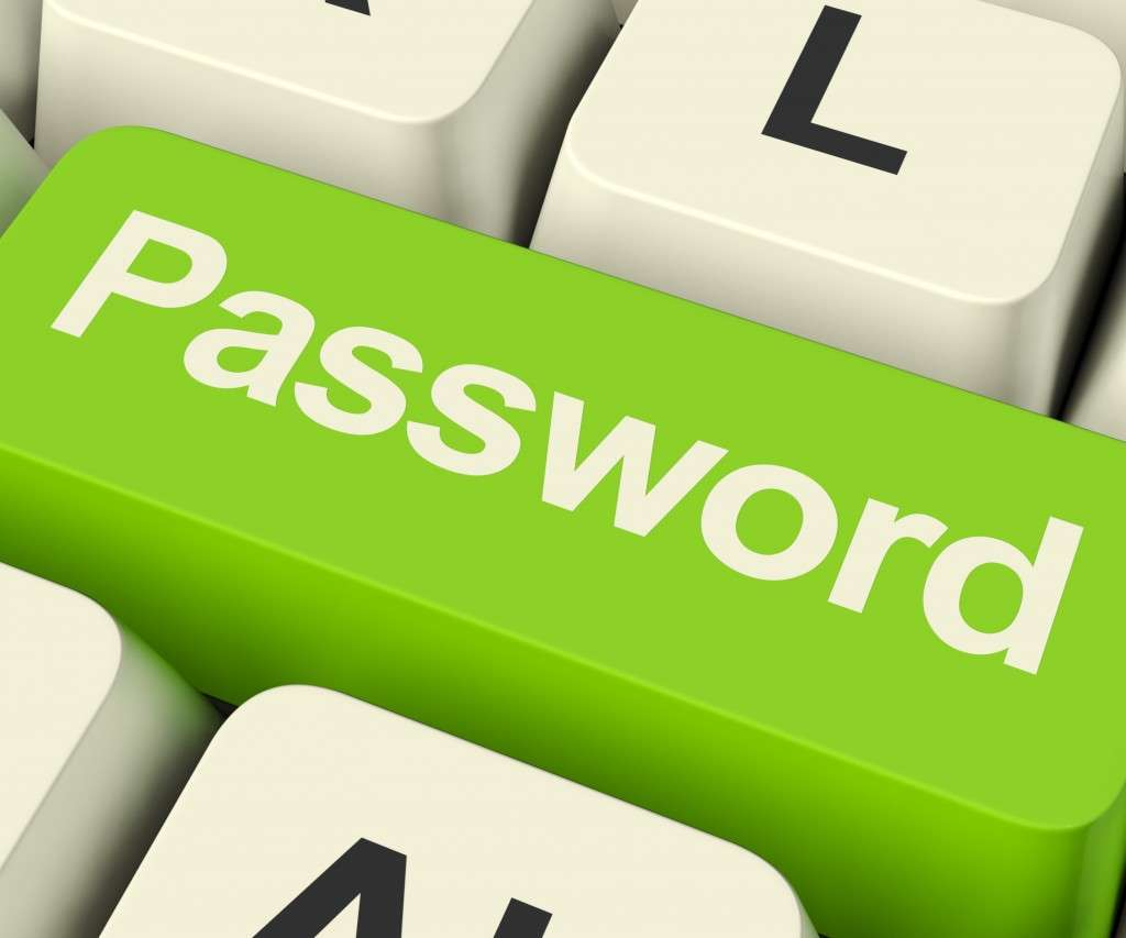 Password Computer Key In Green Showing Permission And Security (Graphicstock)