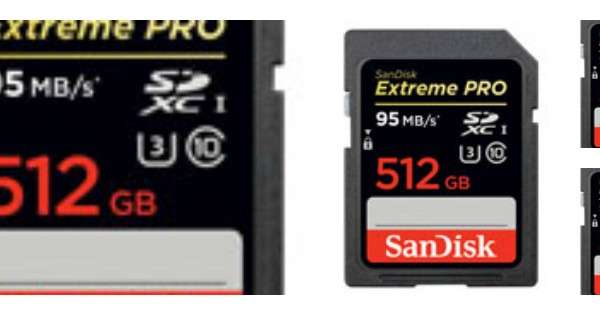 The World's Largest Capacity SD Memory Card: the SanDisk Extreme Pro 512GB SD memory card (photo by SanDisk)