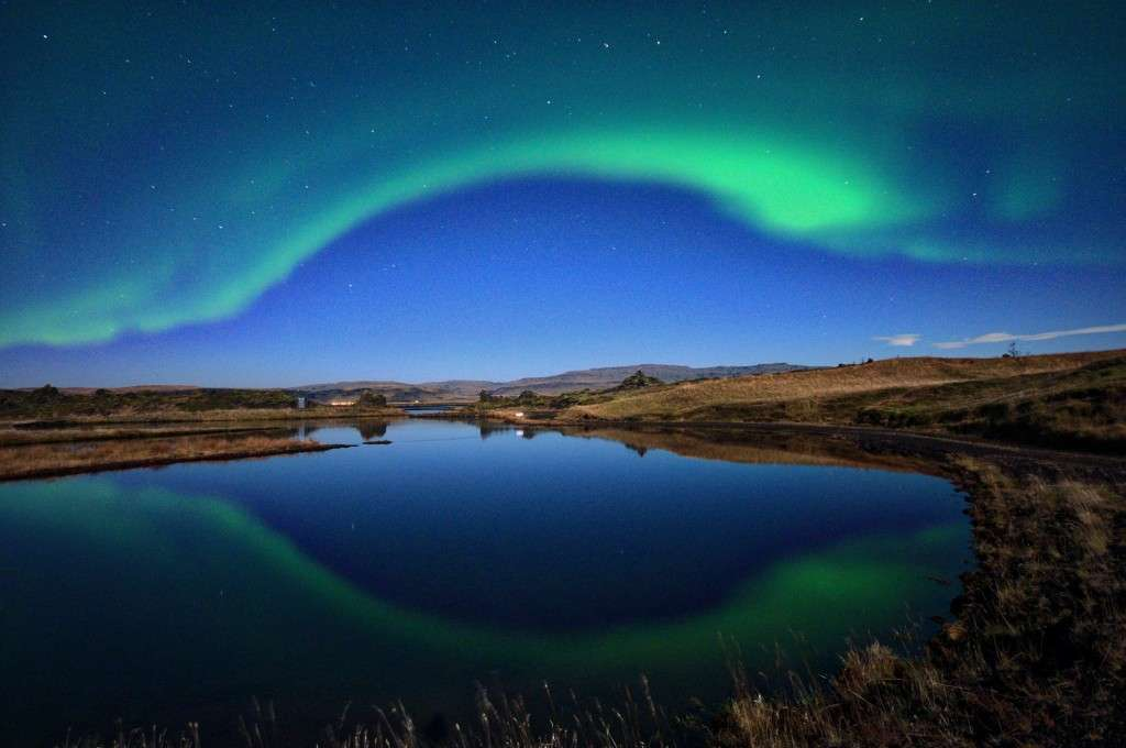 Northern Lights reflection, Iceland (photo credit: Iain Ferguson)