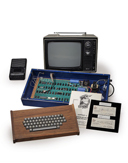 The Ricketts' Apple I personal computer (photo credit: Christie's)