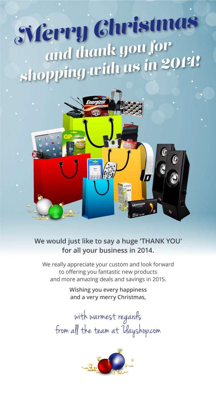7dayshop Christmas e-card