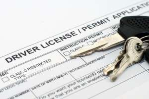 Driver license application (photo credit: Graphicstock)
