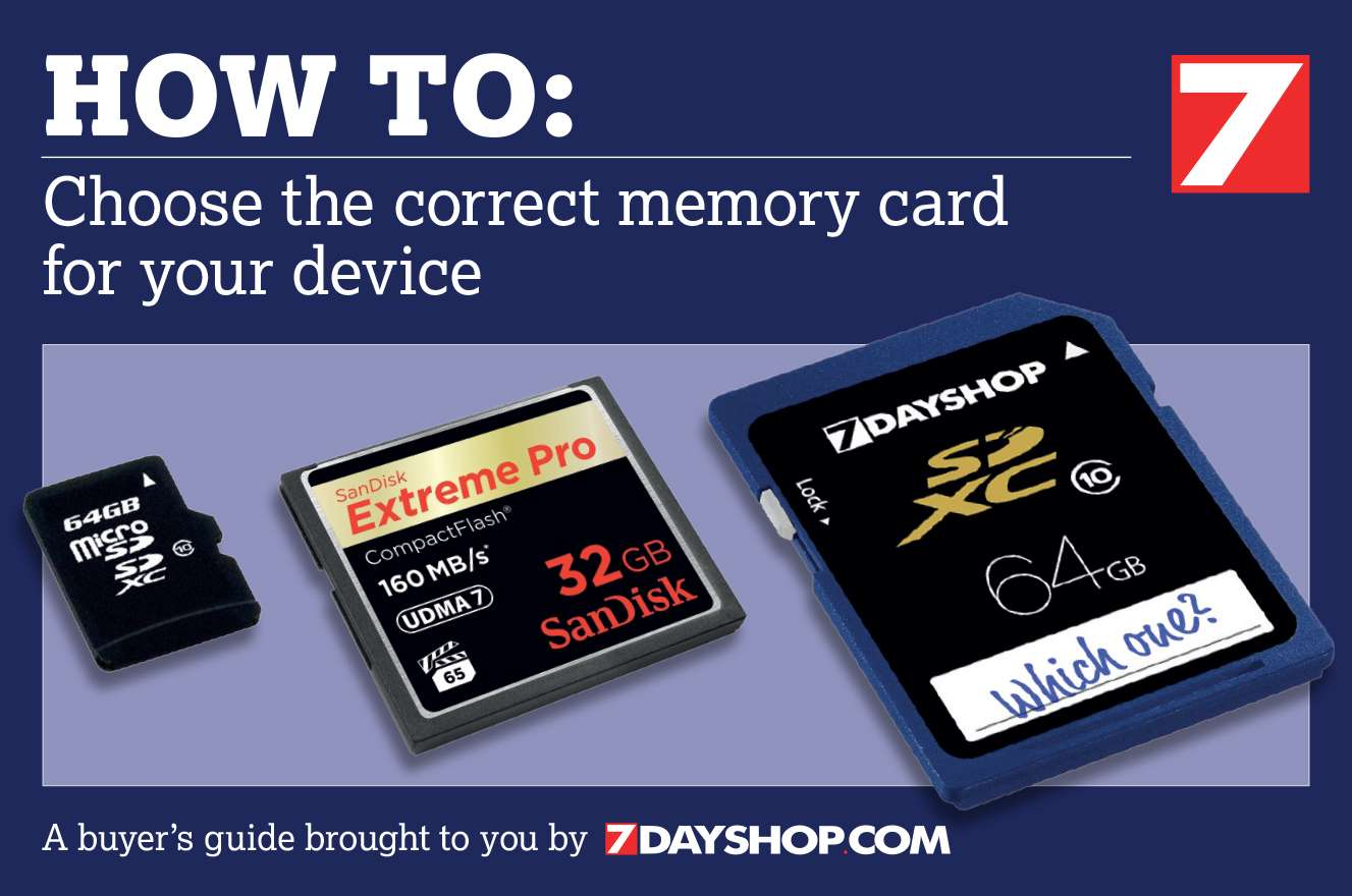 How To Choose The Correct Memory Card Guide in 2017