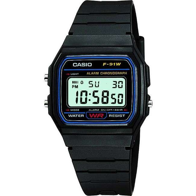 Casio Classic F-91W-1YER Mens Casual Water Resistant Digital Watch - Black