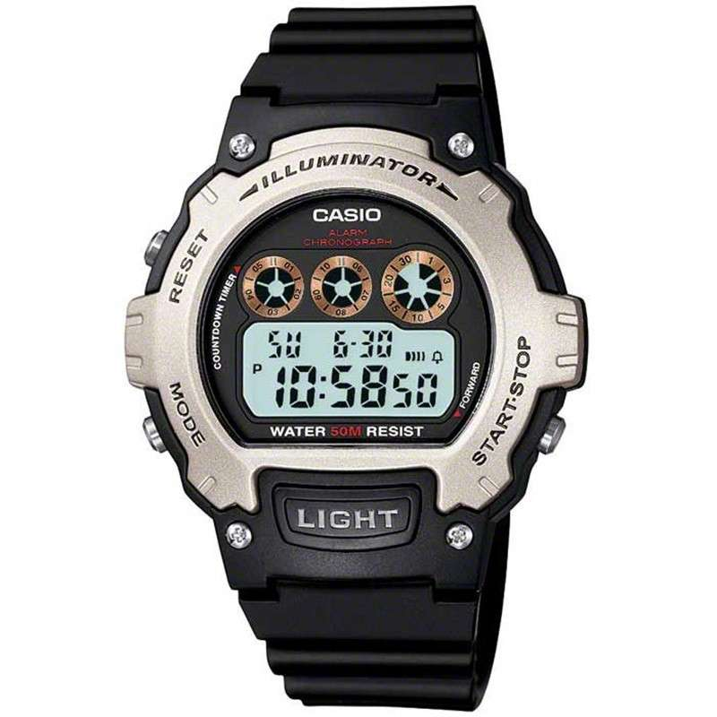 Casio W-214H-1AVEF Men's Digital Illuminator Sports Watch