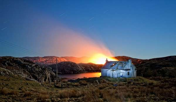 Peat Fire in the Bays of Harris