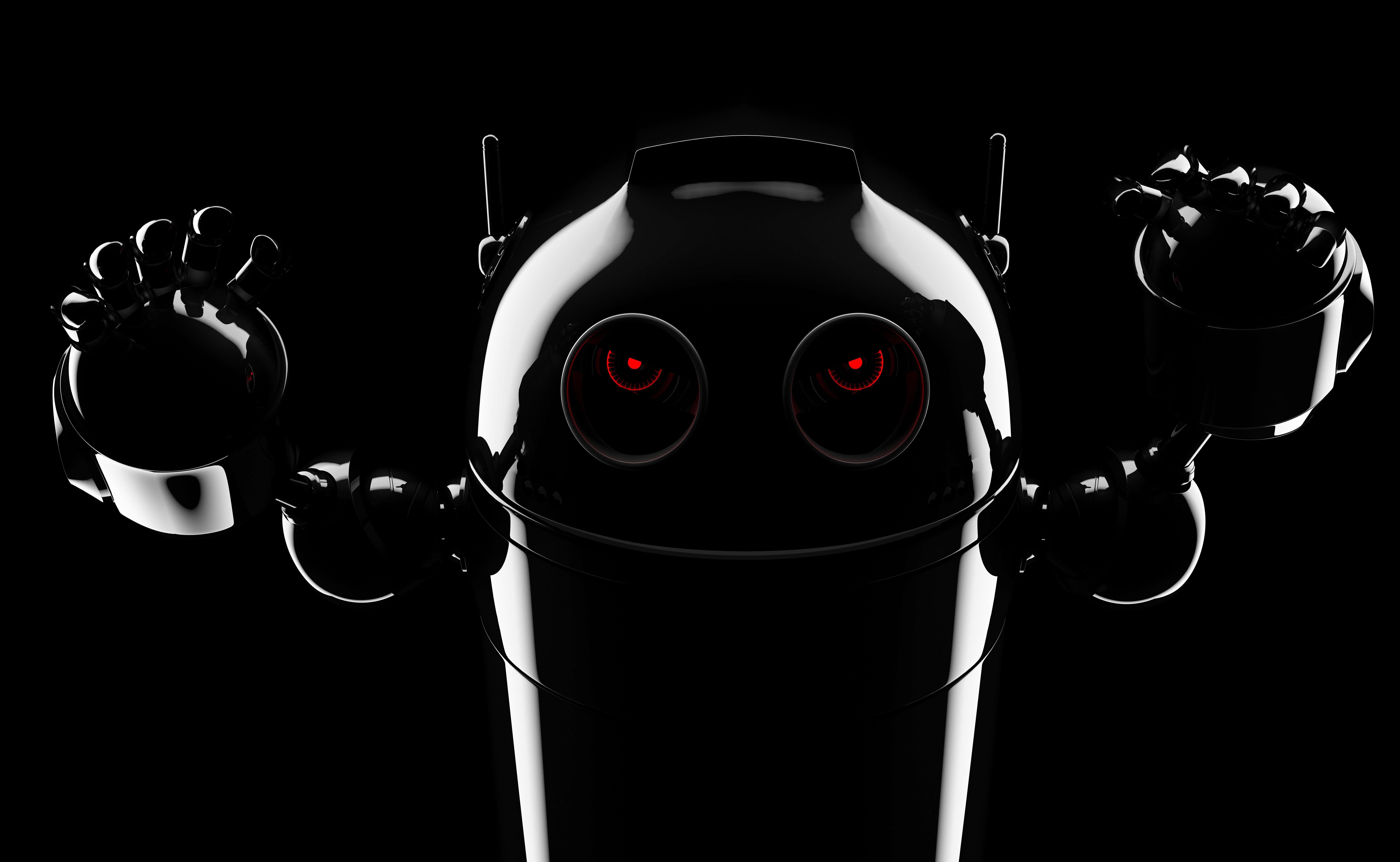 Evil angry robot