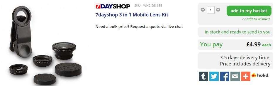 7dayshop 3 in 1 Mobile Lens Kit