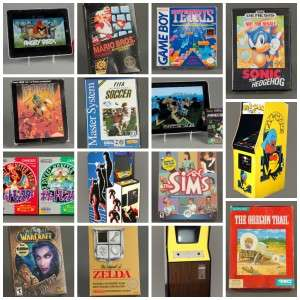 Collage Video Games Hall of Fame Finalists