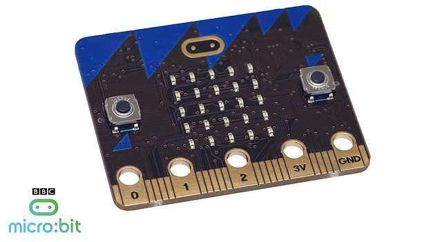 The micro:bit computer (photo credit: BBC)