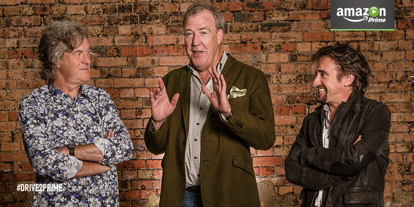 New car show: Jeremy Clarkson signs up to Amazon (photo credit: Amazon/Twitter)