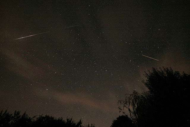 Perseid Meteor Taken in rural Brittany, France, away from light pollution (photo credit: James West)