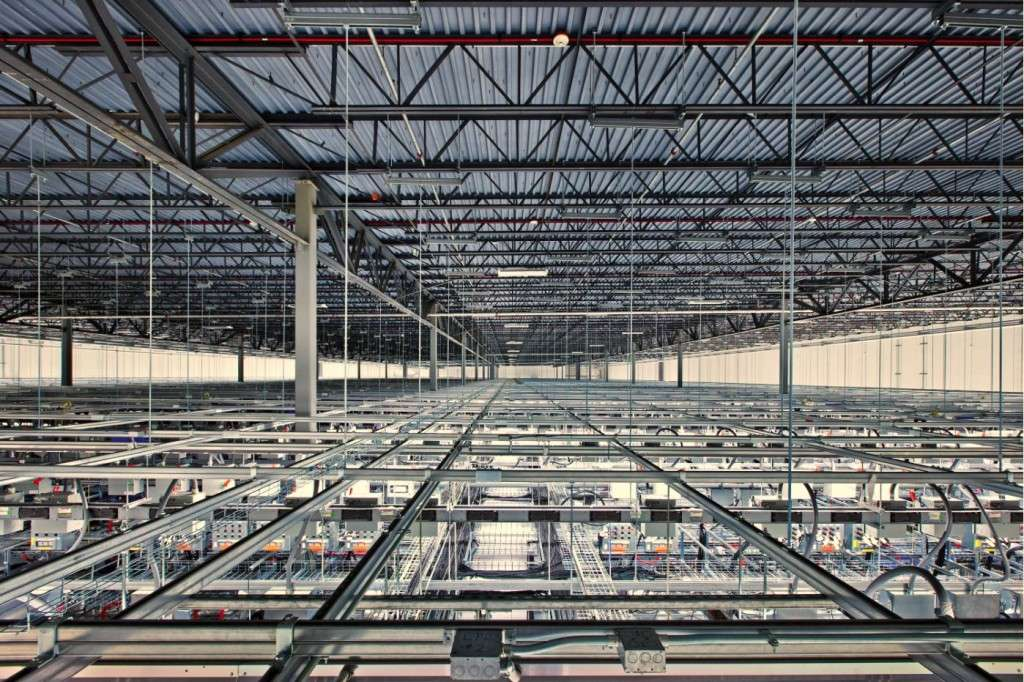 Vast: Above the floor in Council Bluffs, Iowa, the scale of the Google data centre is clear (photo credit: Google)