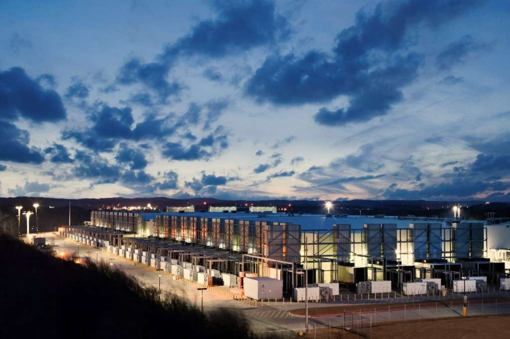 Dusk falls: The Google data centre in Douglas County, Georgia, just outside Atlanta in the US (photo credit: Google)