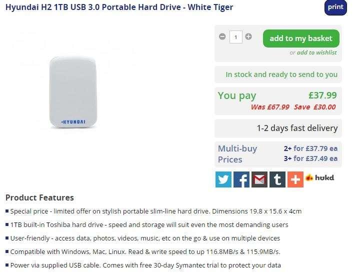 Hyundai hard drive