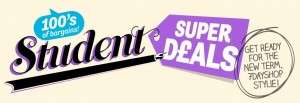 Click here for 100s of super student deals