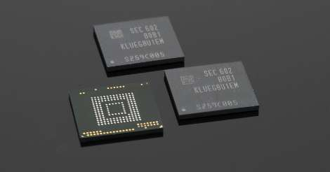 Super-charged memory chips for mobile devices (photo credit: Samsung)