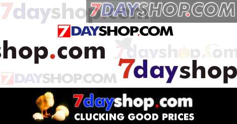 7dayshop logos remembered