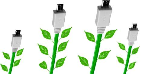 USB cable plants
