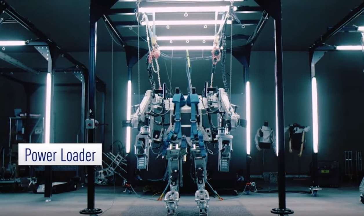 Power loader exoskeleton (photo credit: Panasonic/YouTube_
