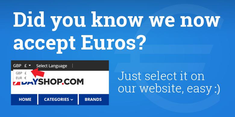 7dayshop.com Now Accepts EURO's