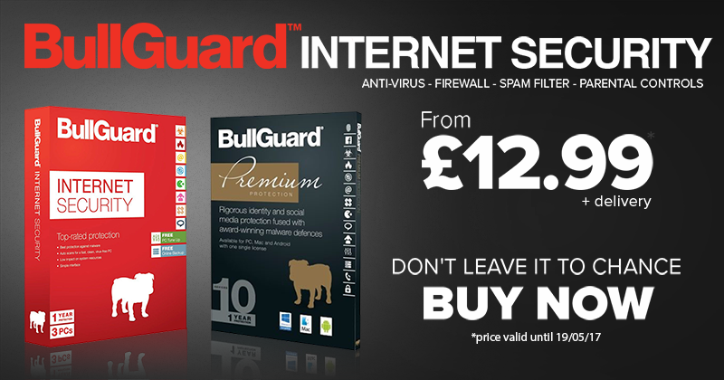 Buy Bullguard Internet Security Software - Peace of mind from £12.99