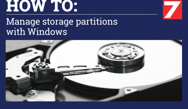Manage Storage Partitions on Windows