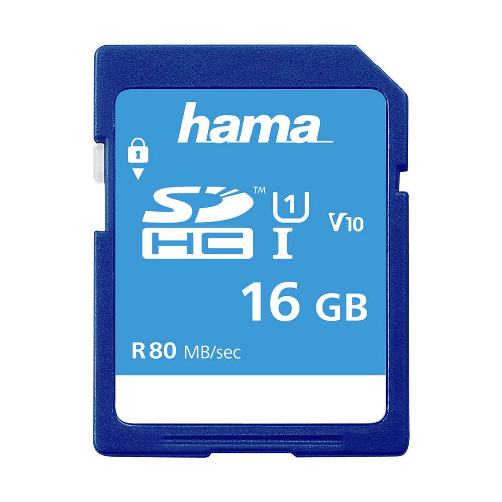 Hama Secure Digital SDHC 16GB Class 10 UHS-I 80MB/S