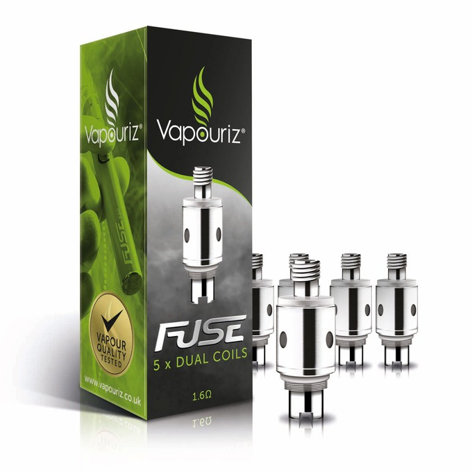 Vapouriz FUSE Dual Coil 1.6OHM Replacement Coils (spare heads) Pack of 5 lowest price