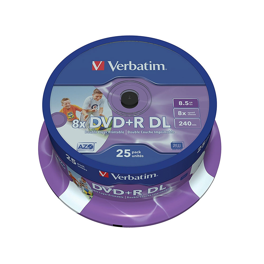 Click to view product details and reviews for Verbatim Dvdr Dl 8x Printable Discs 85gb 240min 25x Spindle.