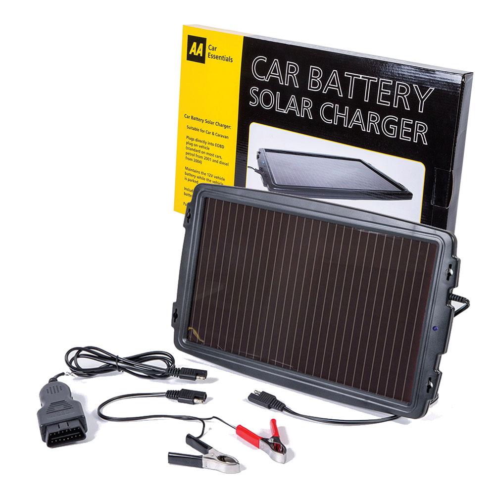 AA Car Essentials 12V Solar-Powered Car Battery Charger Solar Panel