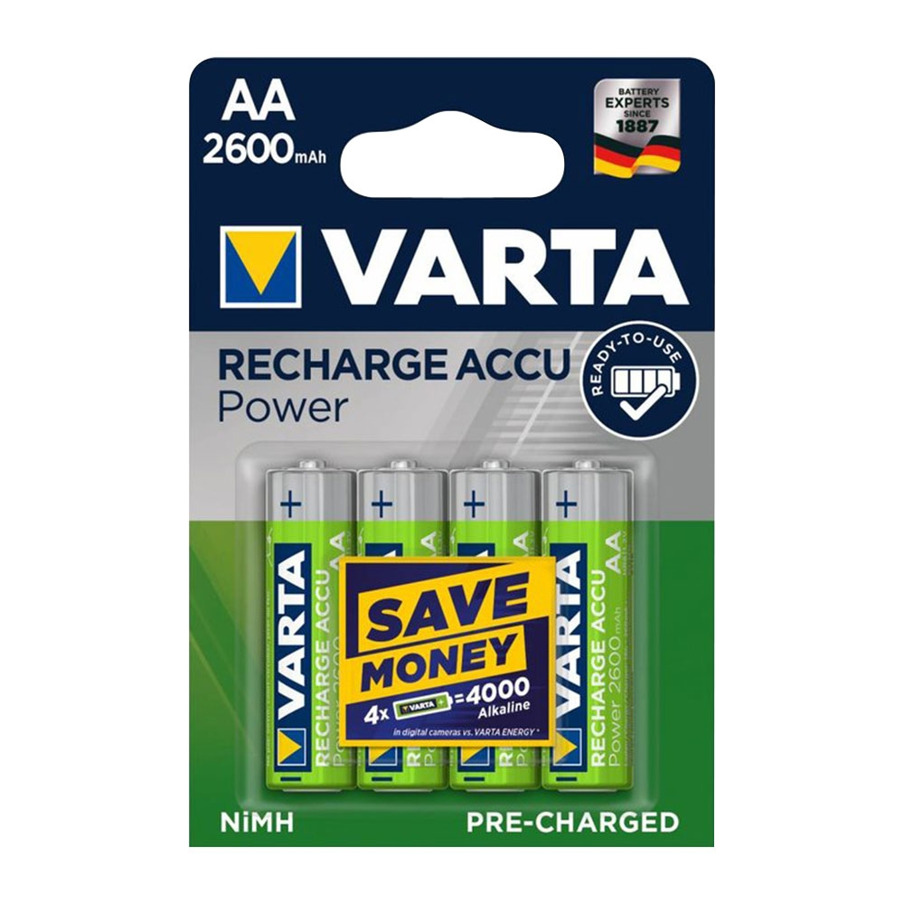 8-Pack-VARTA-AA-Rechargeable-Batteries-Accu-Power-2600mah-Capacity-Pre-Charged thumbnail 3