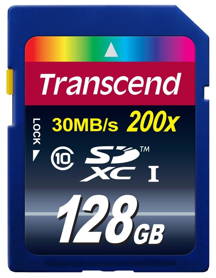 Transcend 128GB SDXC (Class 10) 30 MBs