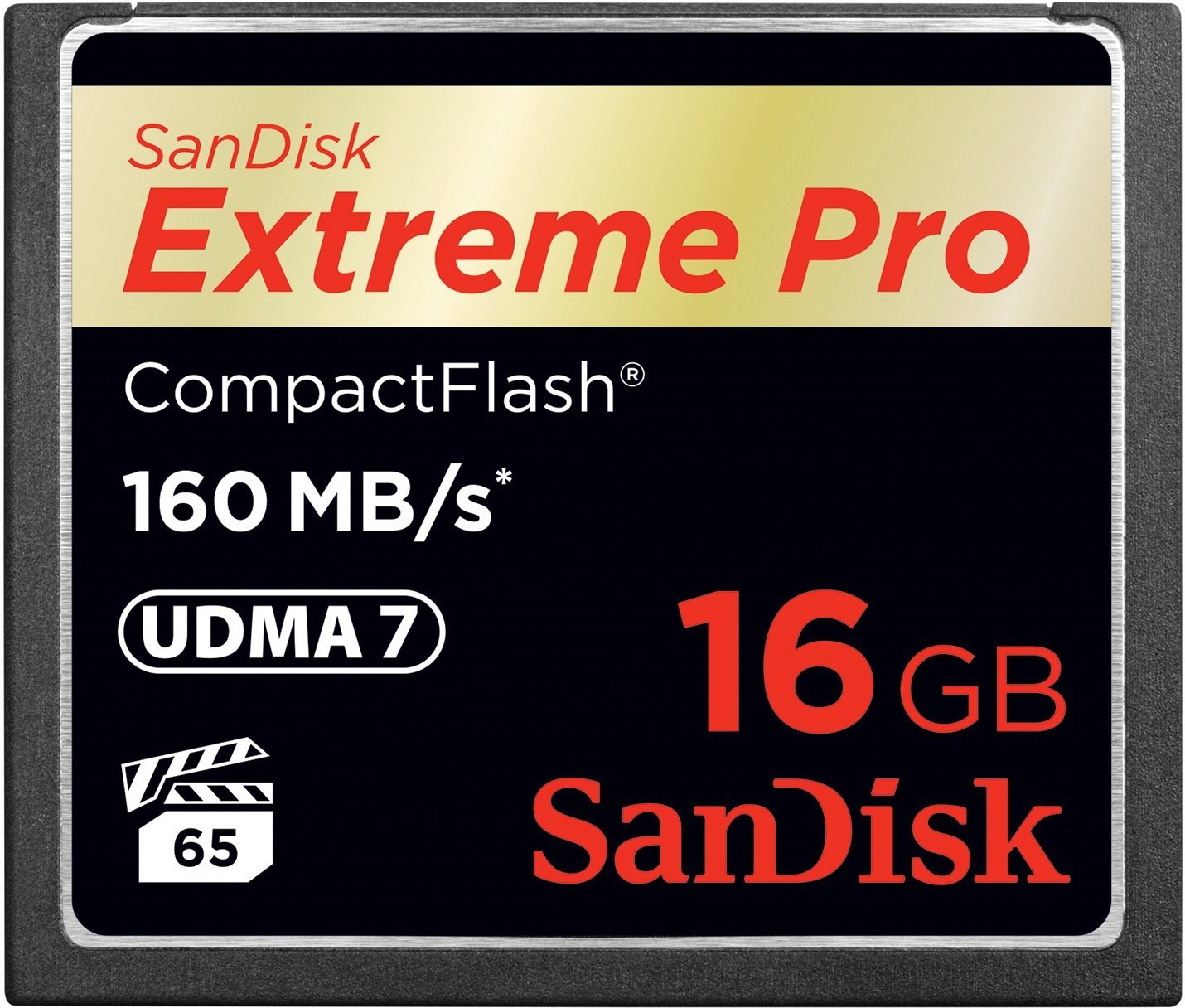 Sandisk Extreme Pro Compact Flash (CF) Memory Card  16GB  160MBs UDMA 7