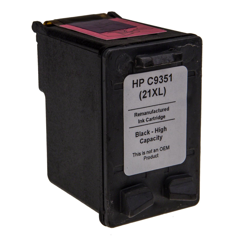 7dayshop Remanufactured HP C9351 Black Inkjet  Print Cartridge (No.21XL)
