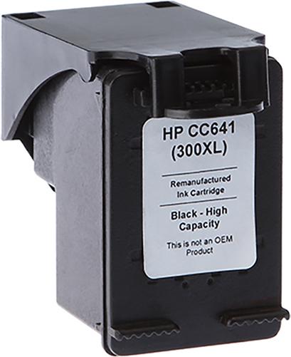 7dayshop Remanufactured HP CC641EE Black HighCapacity Inkjet Cartridge 300XL
