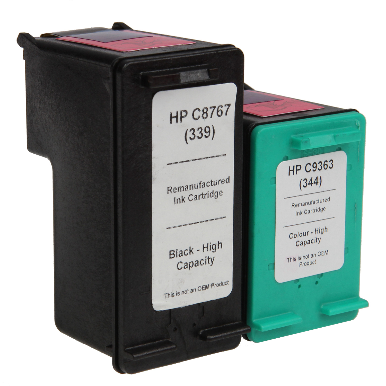 7dayshop Remanufactured HP C8767EE  C9363EE Multipack (No. 339  344)