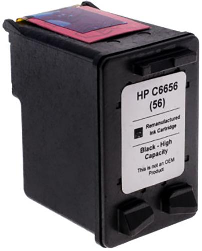 7dayshop Remanufactured HP C6656AE Black Inkjet  Print Cartridge (No.56)