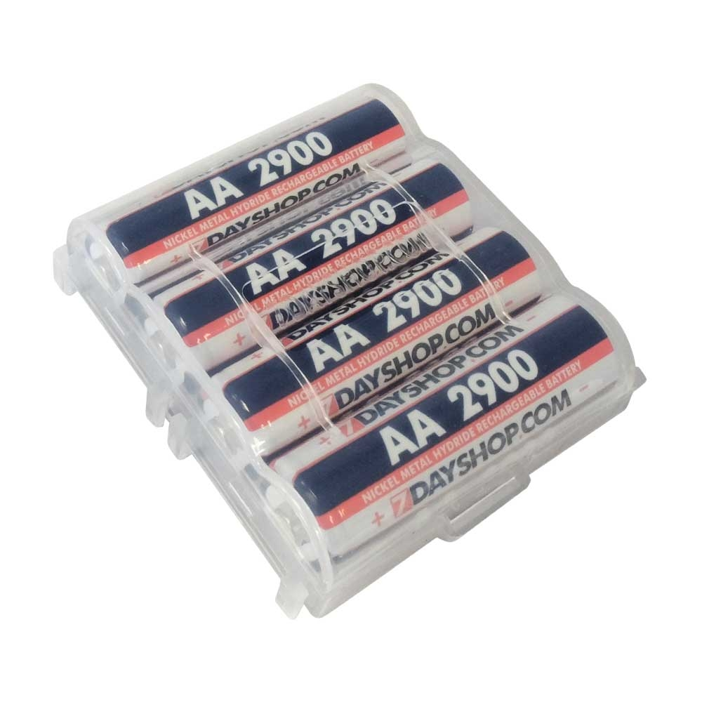 Rechargeable Batteries **EOL** 7dayshop AA HR06 2900 Series High Performance NiMH Rechargeable Batteries with FREE Storage Case - 4 Pack
