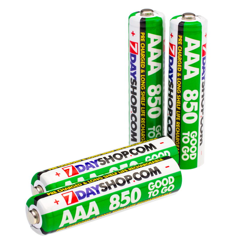 7dayshop GOOD TO GO AAA PreCharged Long Life Rechargeable Batteries 850mAh  4 Pack