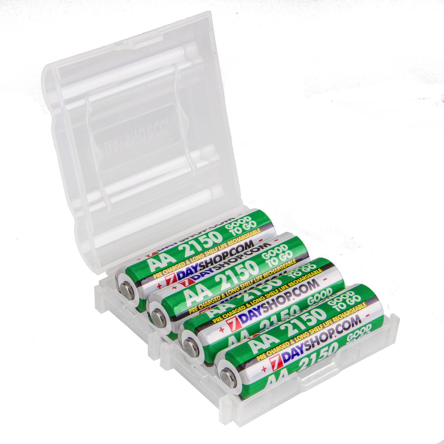 7dayshop GOOD TO GO AA PreCharged Long Life Rechargeable Batteries 2150mAh  4 Pack