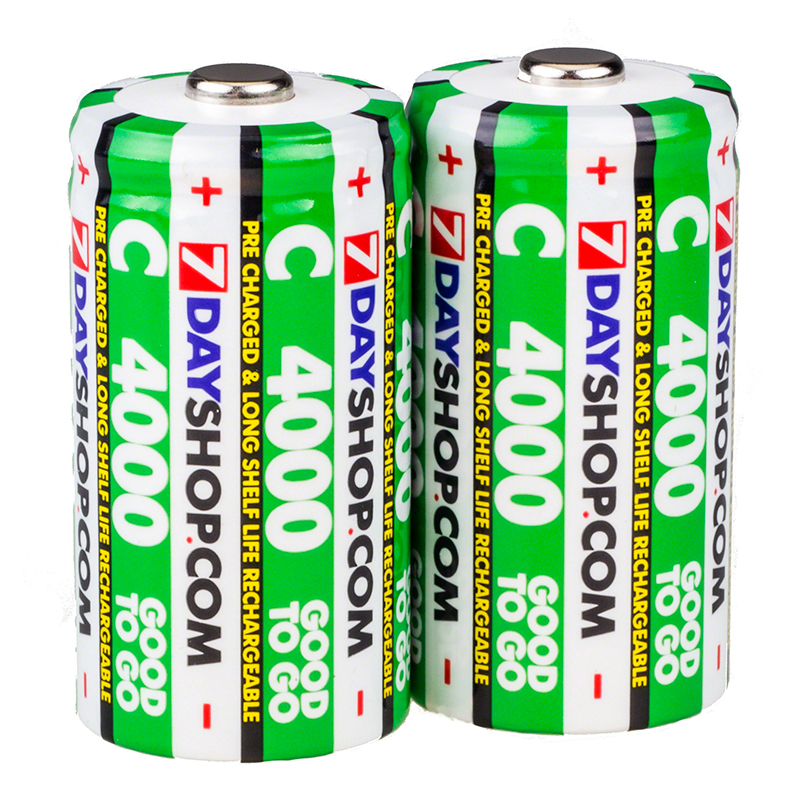 7dayshop GOOD TO GO C Cell PreCharged Long Life Rechargeable Batteries 4000mAh  2 Pack