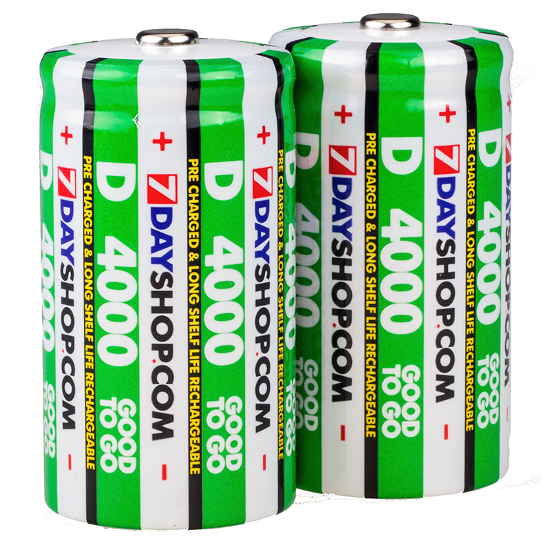 7dayshop GOOD TO GO D Cell PreCharged Long Life Rechargeable Batteries 4000mAh  2 Pack