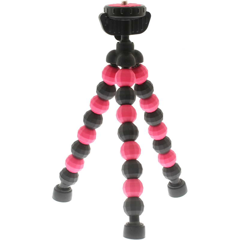 7dayshop Tripods  SUPERHERO Action Mini Tripod with Quick Release Head  Pink