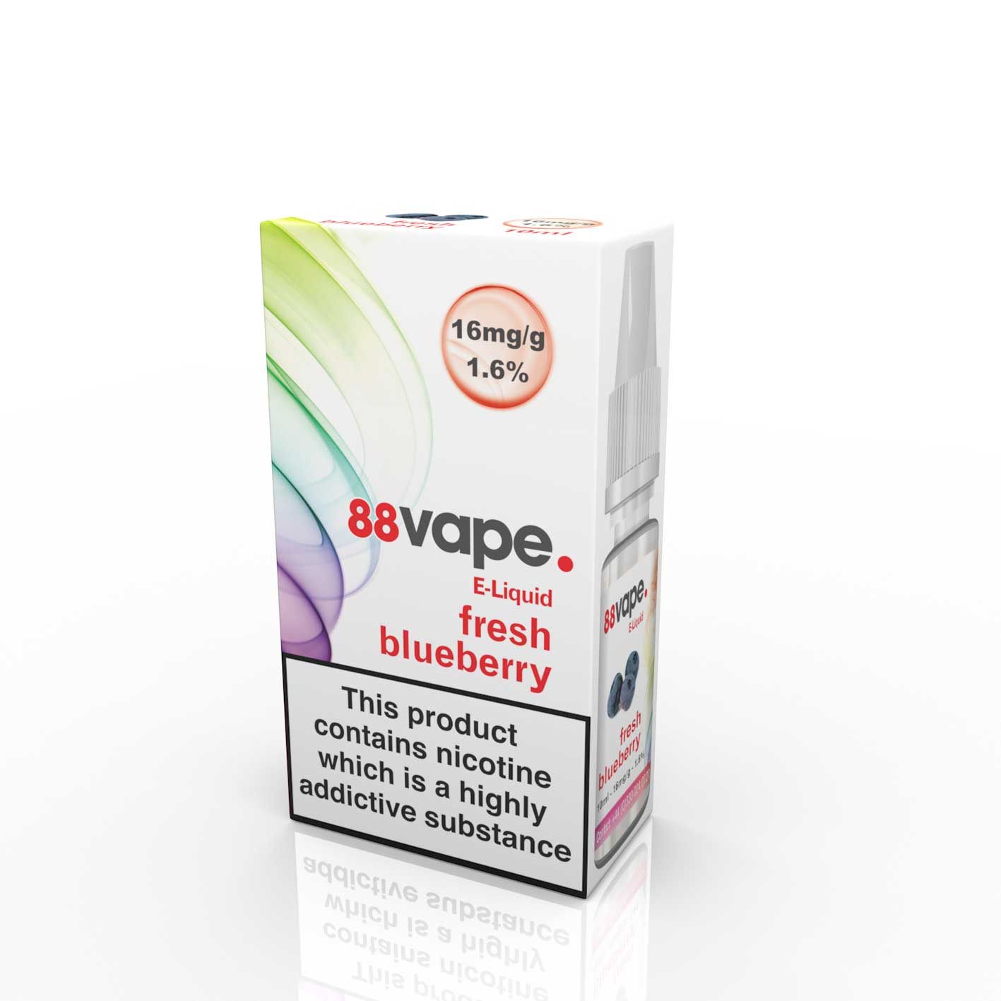 Compare prices for 88Vape E-Liquid Fresh Blueberry 10ml - 16mg Nicotine - Extra Value 20 Pack