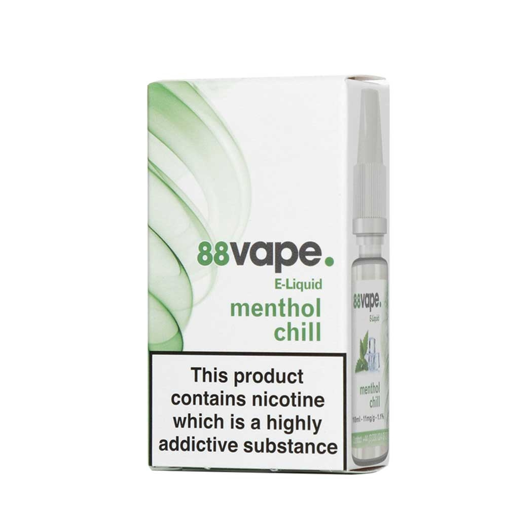 Compare prices for 88Vape E-Liquid Menthol Chill 10ml - 11mg Nicotine - Extra Value 20 Pack