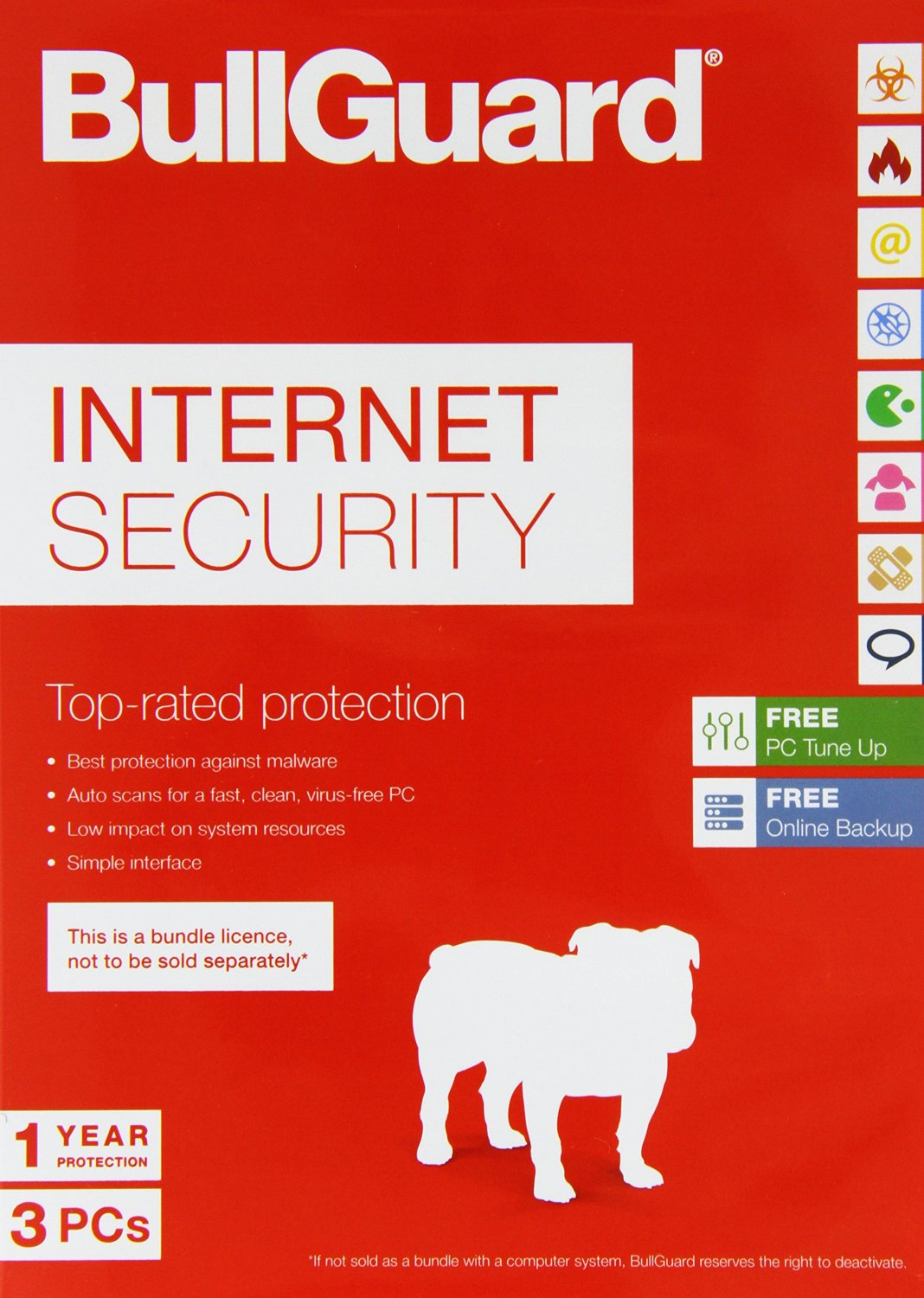 Compare retail prices of Bullguard Internet Security - 3 User Licence with 5GB Online Storage to get the best deal online